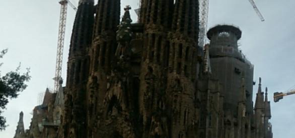 La Basílica de La Sagrada Familia, aunque en obras absolutamente imprecionante