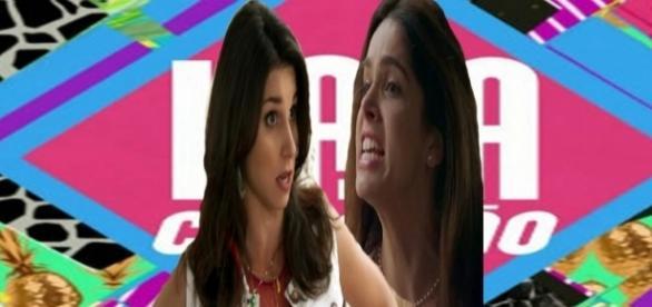 Shirlei dá uns tapas em Carmela na novela das 7 'Haja Coração'