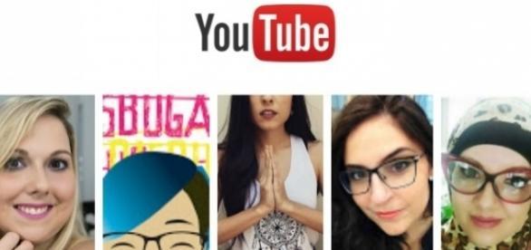 Cinco YouTubers brasileiras / Imagem: Reprodução