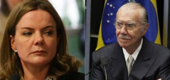 Gleisi Hoffman e José Sarney são acusados de envolvimento