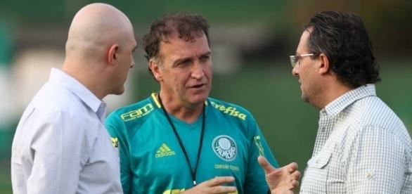 Maurício Galiotte, Cuca e Alexandre Mattos na Academia de Futebol
