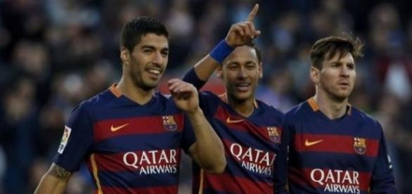 O trio MSN vai procurar ajudar o Barcelona a conquistar mais três pontos