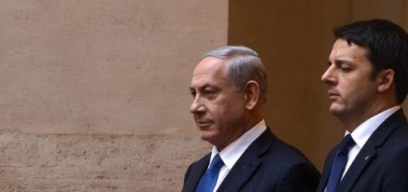 Il premier Renzi insieme 'all'amico' israeliano Bibi Netanyahu