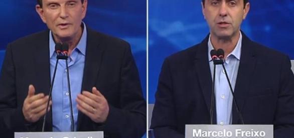 Marcelo Crivella e Marcelo Freixo