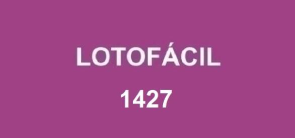 Anúncio do resultado da Lotofácil 1427
