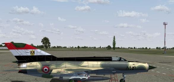 Egypt Air Force MiG-21MF/Photo via flyawaysimulation