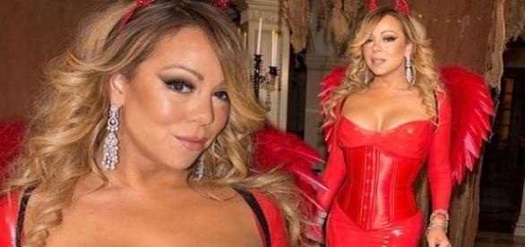 Mariah Carey fantasiada de diabinha