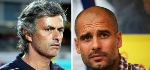 Mourinho and Guardiola. Remixed from pictures by Steindy and Thomas Rodenbücher, respectively, Creative Commons.