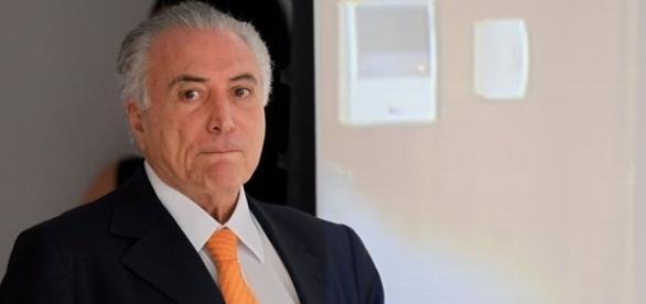 Temer no interior do Palácio do Planalto