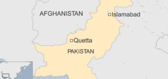 Quetta, fica localizado na região oeste do Paquistão.