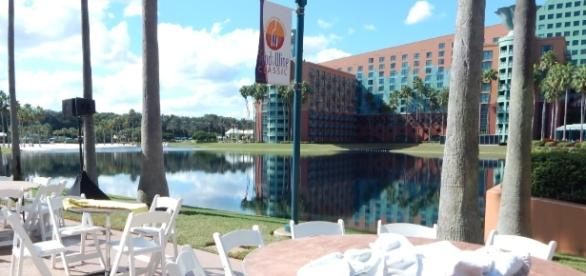 The Swan and Dolphin Resort is preparing for the Food and Wine Classic. (Photo by Barb Nefer)