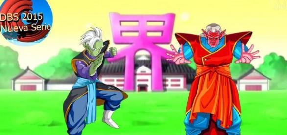Zamasu y kibito, ambos aprendices de Kaio shin