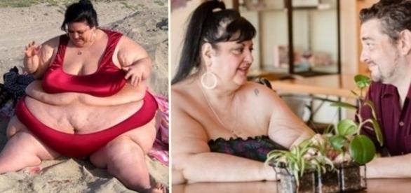 A mulher mais gorda do mundo começou a emagrecer, depois que resolveu namorar mais.