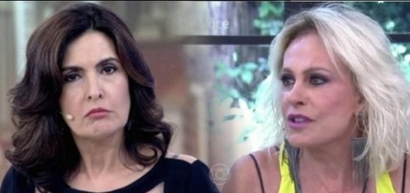 Clima é tenso entre Fátima Bernardes e Ana Maria Braga