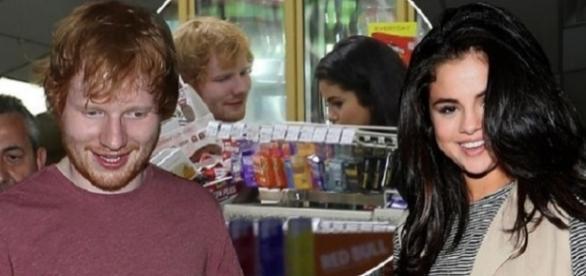 Ed Sheeran e Selena Gomez (Foto: Reprodução)