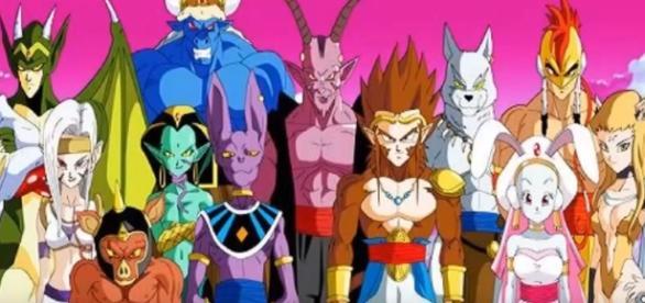 Goku versus los 12 diose de la destruccion
