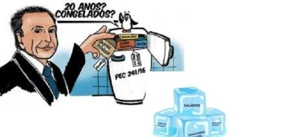 O presidente Michel Temer que congelar os gastos públicos por 20 anos