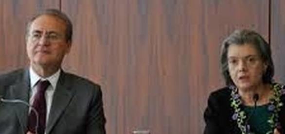 Renan Calheiros e Cármen Lúcia se estranharam sobre o episódio das investigações que culminaram na prisão de agentes legislativos