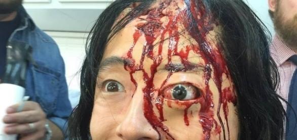 Maquiagem da morte de Glenn em The walking dead