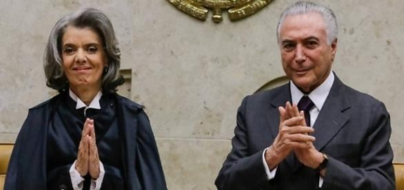 Presidente Temer e Ministra Carmem Lúcia