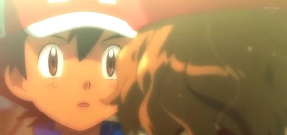 Serena se acerca para besar a su amado