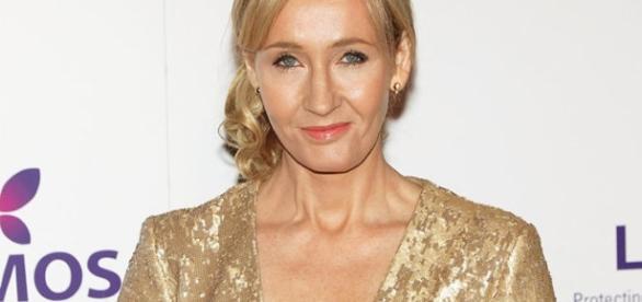 A autora britânica J.K. Rowling