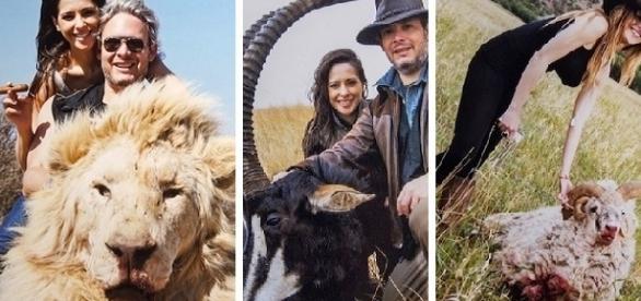 As fotos colocadas em uma rede social irritaram várias ONG's de proteção aos animais.