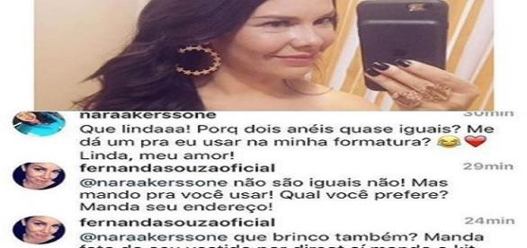 Fernanda Souza tem mais de 8 milhões de seguidores na web