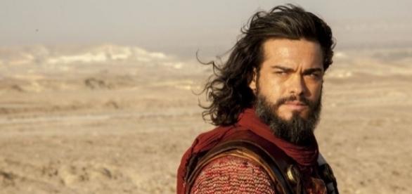 Josué, interpretado pelo ator Sidney Sampaio e protagonista da novela bíblica - Reprodução/Internet