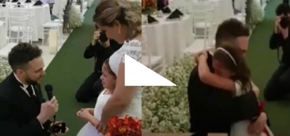 Noivo pede enteada como filha em casament