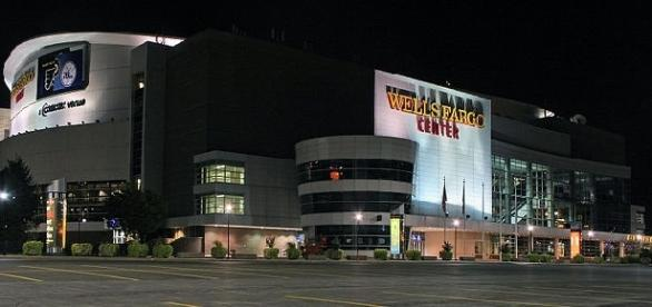Wells Fargo Center (credit: PHL Approach - wikimedia.org)