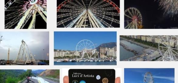 luci d'Artista Salerno prezzi ruota panoramica