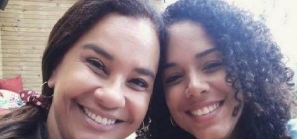 Solange Couto e a filha estuprada