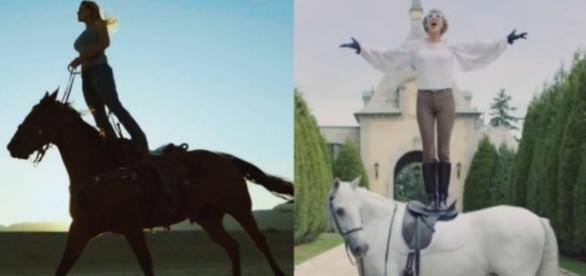 "Cena do clipe de ""My Way"", de Harris e de ""Blank Space"", de Taylor Swift"