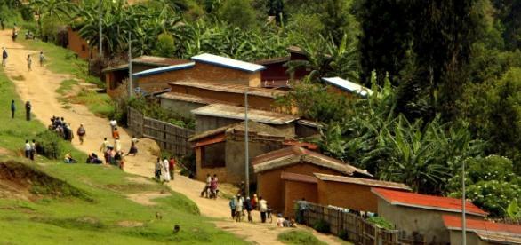 079950.MN.0330.Rwanda30.FO--A view of a village near Ecole Technique de Murambi, in Rwanda. Photo/Art: Francine Orr / Los Angeles Times