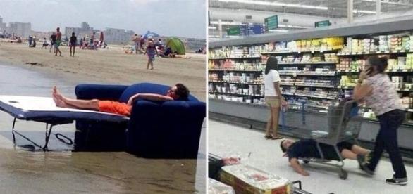 20 Fotos de pessoas que não estão preocupadas com a vida