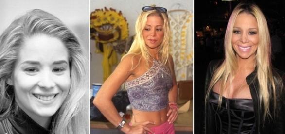 A aparência da atriz foi mudando radicalmente pouco a pouco