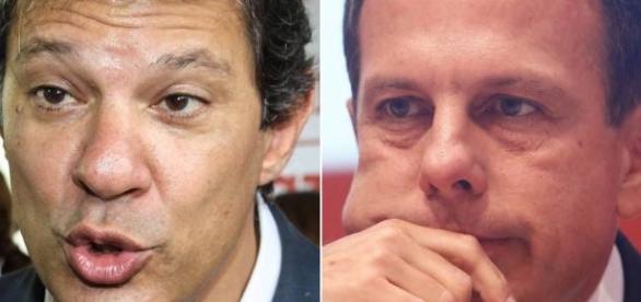 Fernando Haddad e João Doria (Fotos: Brazil Photo Press/Folhapress)