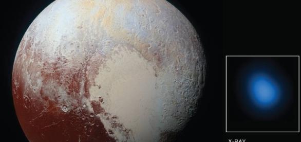 Imagens do raio X emitido pelo planeta Plutão.