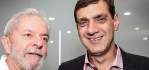 Lula e seu filho, Marcos Lula (Foto: Reprodução)