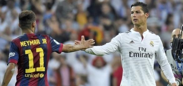 Neymar e Cristiano Ronaldo são rivais dentro dos gramados