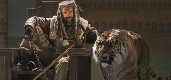 Ezekiel e Shiva no segundo episódio da sétima temporada