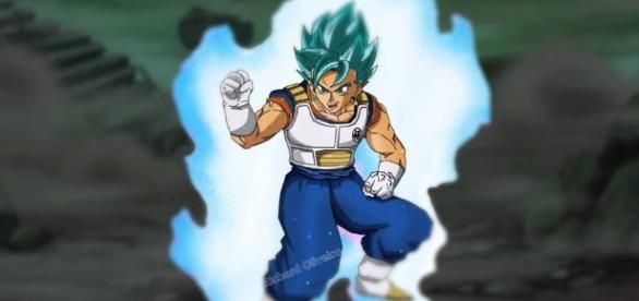 Fan art de Vegetto en super saiyajin Blue