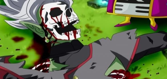 Zeno sama destruye a la fusión de Zamasu y Black creación de Dicasty