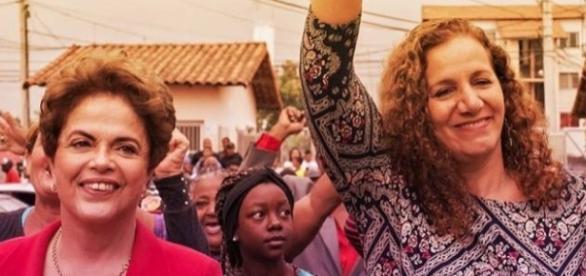 Dilma durante campanha de Jandira Feghali (Foto: Reprodução/Facebook)