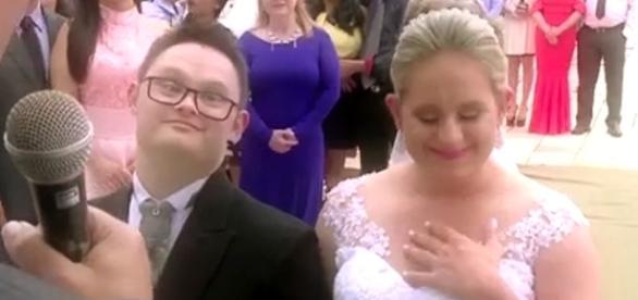 Guilherme e Charlote na cerimônia de casamento - Foto: Reprodução Gshow