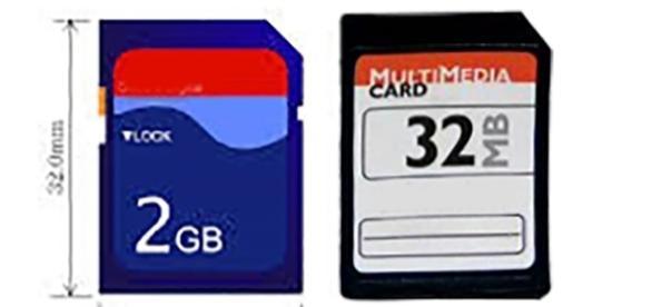 Imagen representativa de una tarjeta SD y de una MMC