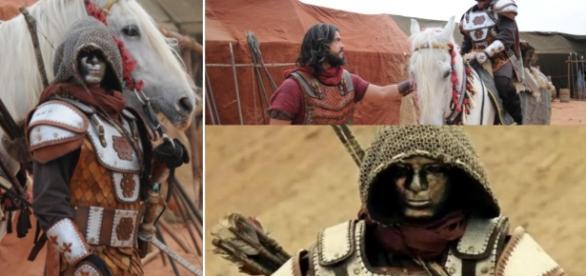 Josué ficou cara a cara com o Soldado Mascarado