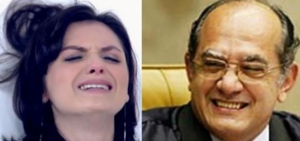 Monica Iozzi e Gilmar Mendes - Foto/Reprodução