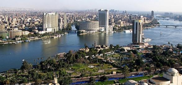 Il Cairo, capitale dell'Egitto, attraversata dal Nilo